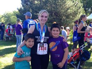 With my boys after finishing my second 1/2 marathon - September 2014.