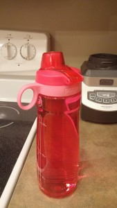 Got this water bottle from Target.  Love it.  Doesn't leak, holds 32 oz, easy to wash, $7.