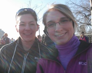 At the start line!